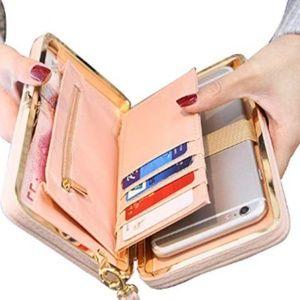 Women Bowknot Wallet Large Long Purse